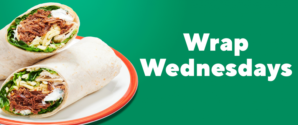 Wrap Wednesdays Lunch Offer