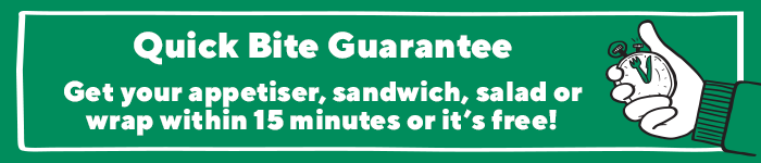 Quick Bite Guarantee - Get your meal within 15 minutes or it's free