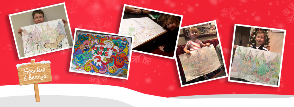 Festive colouring competition winners